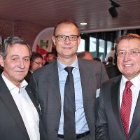 Fritz Bosshart (Präsident AGVS Sektion Zürich), Giorgio Feitknecht (Mitglied der Geschäftsleitung ESA) und Charles Blättler (Vorsitzender der Geschäftsleitung ESA)