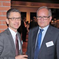 Peter Götschi (Präsident TCS) und François Launaz (Präsident auto-schweiz)