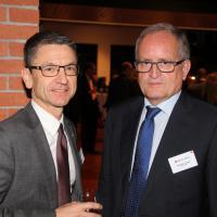 Peter Götschi (presidente del TCS) e François Launaz (presidente di auto-schweiz)