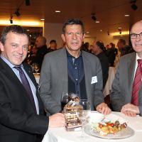 Walter Wobmann (conseiller national canton SO, UDC), Max Nötzli (ancien président d'auto-suisse) et Markus Hutter (ancien conseiller national, garagiste)