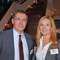 Roland Rino Büchel (Nationalrat Kt. SG, SVP) und Katrin Portmann (AGVS)