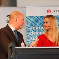 Christoph Aebi und Moderatorin Miriam Rickli