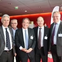 François Ott, César Pessotto, Philippe Robert, Pierre Daniel Senn und Jacques-André Maire