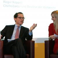 Roger Köppel mit Miriam Rickli