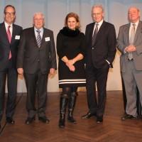 v.l. Jean-Marc Probst, Urs Wernli (Zentralpräsident AGVS), Christoph Blocher, Doris Fiala, Hans-Ulrich Bigler, Ulrich Giezendanner, Patrick Rohr
