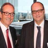 Urs Wernli (AGVS-Zentralpräsident) und Jürg Röthlisberger (Astra)