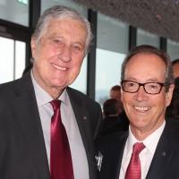 v.l. Roland Ayer (Ehrenpräsident AGVS) und Urs Wernli (AGVS-Zentralpräsident)