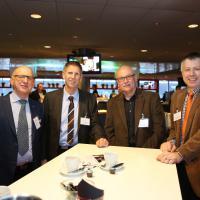 Bruno Sinzig, René Lafontaine (Schönegg-Garage), Ruedi Leibundgut (ESA) und Patrik Burkhardt (Schönegg-Garage)