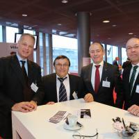 Nicolas Droz (AGVS-Sektion Genf), Pantaleo Galati (Galati Centre Poids Lourds SA), Urs Burger (Emil Frey AG), Adrian Fischer (Emil Frey AG)