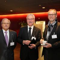 Gianfranco Christen, Michel Tinguely und Dominique Kolly (Garage G. Kolly SA)