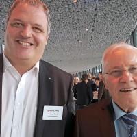 Philippe Durret (Durret Automobiles SA) und Christoph Blocher